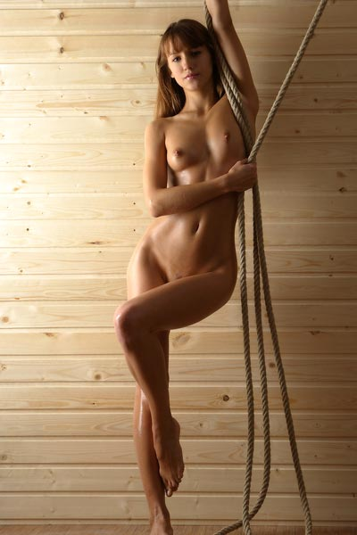 Model Alisa in Fit To Be Tied