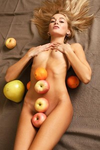 Model Lilya in Fresh Fruit