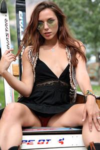 Model Elena Generi in Postcard Crested Butte